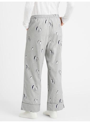 Banana Republic Desenli Pijama Altı Gri